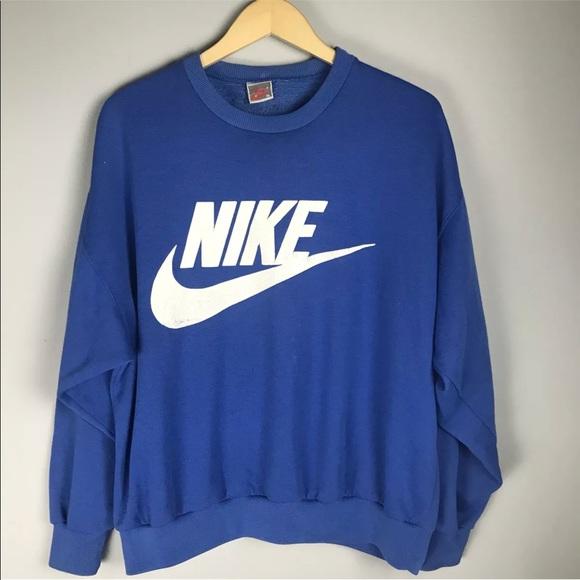 Vintage Nike Silver Label Spellout Swoosh Blue